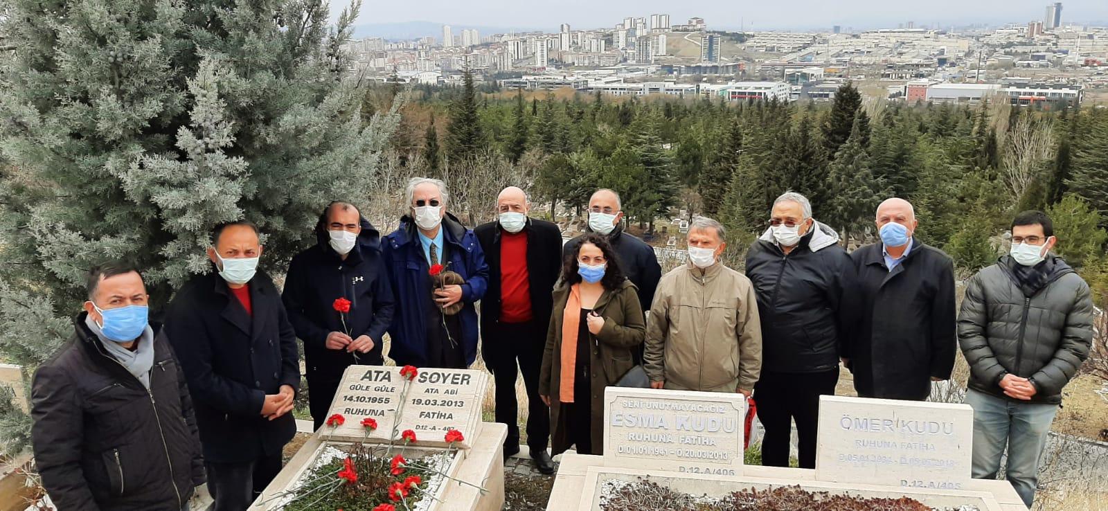 Dr. Ata Soyer'i Aramızdan Ayrılışının 8. Yılında Mezarı Başında Andık