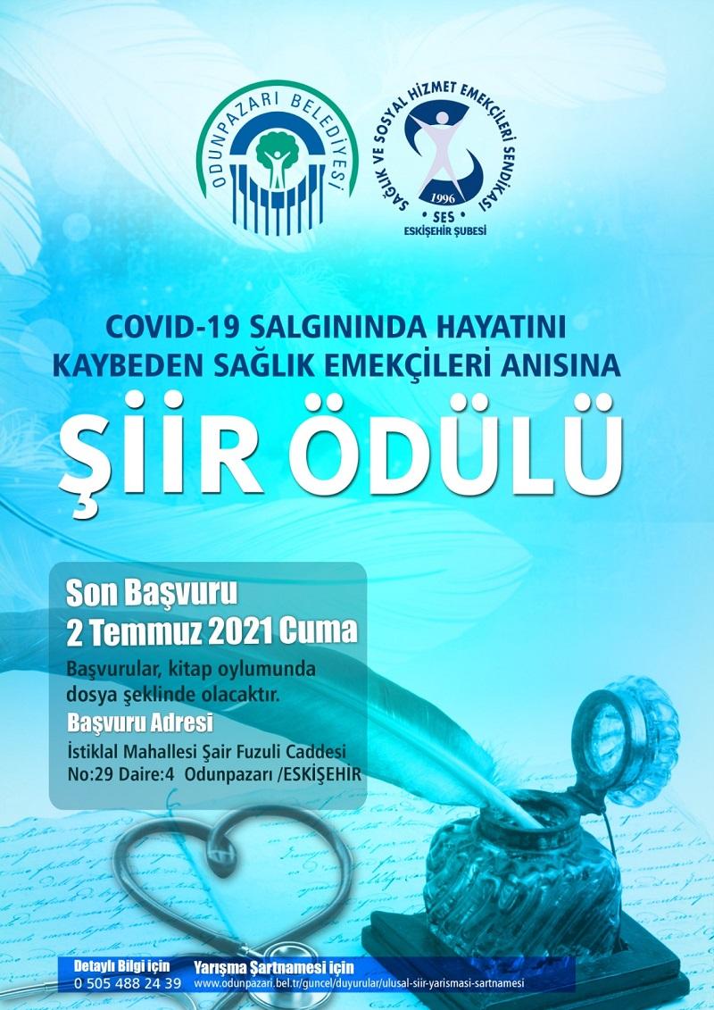 Eskişehir Şubemiz ve Odunpazarı Belediyesi'nden Covid-19 Nedeniyle Yaşamını Yitiren Sağlık Emekçileri Anısına Şiir Ödülü