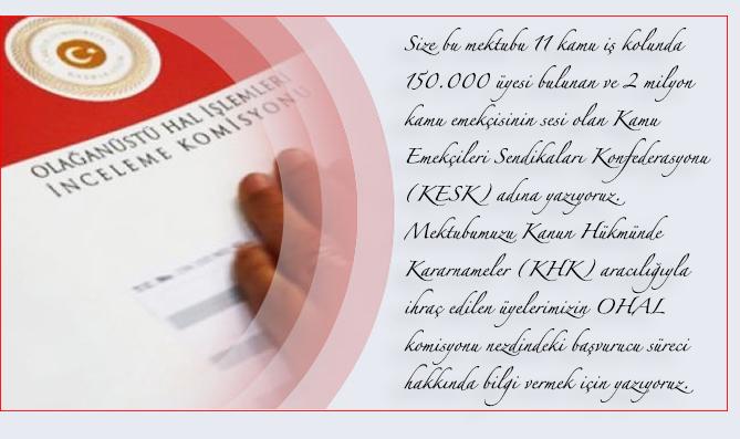 KHK İhraçlarına Dair KESK Tarafından Hazırlanan Mektubu PSI ve EPSU'ya Gönderdik