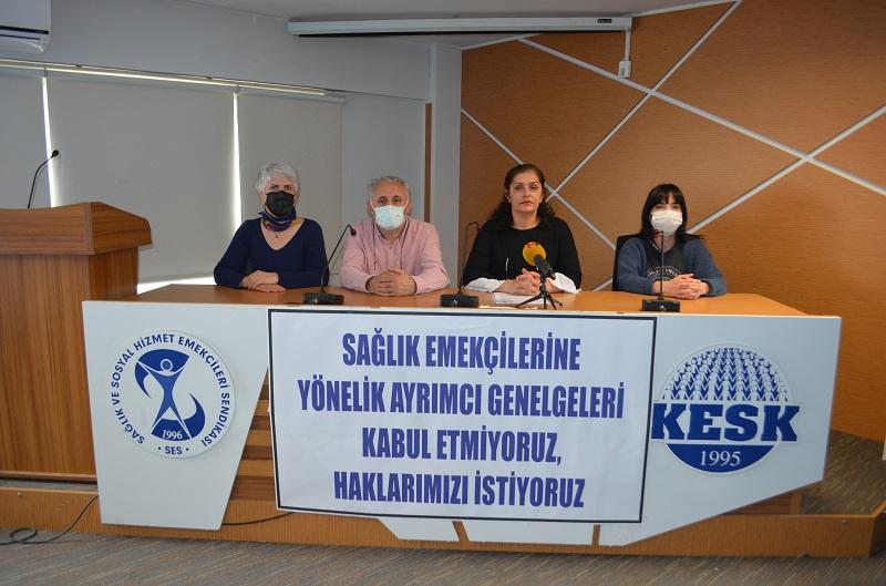 Sağlık Emekçilerine Yönelik Ayrımcı Genelgeleri Kabul Etmiyoruz, Haklarımızı İstiyoruz!