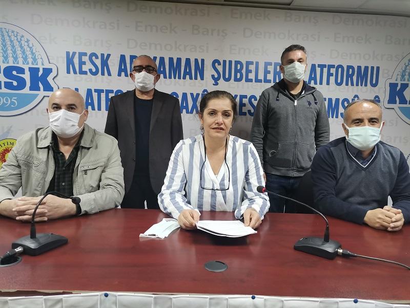 KESK Şubeler Platformları Güvenlik Soruşturması ve Arşiv Araştırması Yasa Teklifine Karşı Açıklamalar Yaptı
