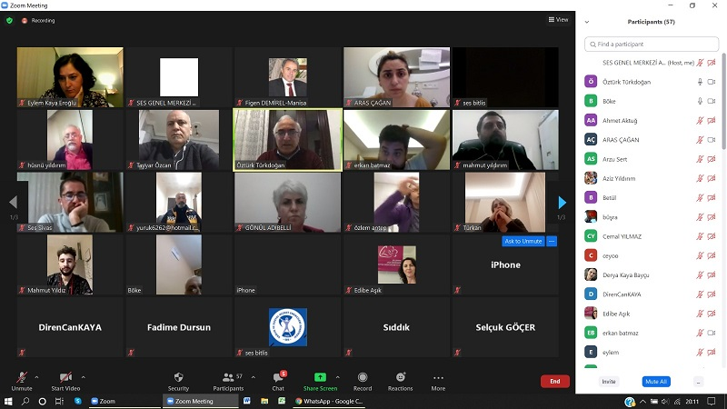4-B ve 3+1'li Üyelerimizle Çevrimiçi Toplantı Gerçekleştirdik