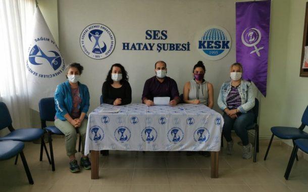 Hatay Şubemiz: Sağlık Emekçilerine Yönelik Ayrımcı Genelgeleri Kabul Etmiyoruz, Haklarımızı İstiyoruz