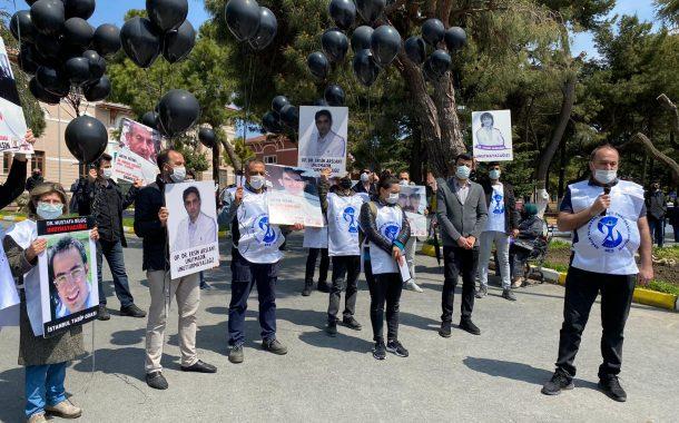 Sağlık Emekçileri Sağlıkta Şiddete Karşı Cerrahpaşa Tıp Fakültesi Önünde Açıklama Yaptı