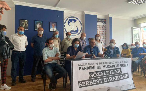 Ankara Şubemiz, Ankara Tabip Odası, Ankara Dişhekimleri Odası, Devrimci Sağlık İşçileri Sendikası, Tüm Radyoloji Teknisyen ve Teknikerleri Derneği: Sağlık Emek ve Meslek Örgütleri İle Değil, Pandemi İle Mücadele Edin
