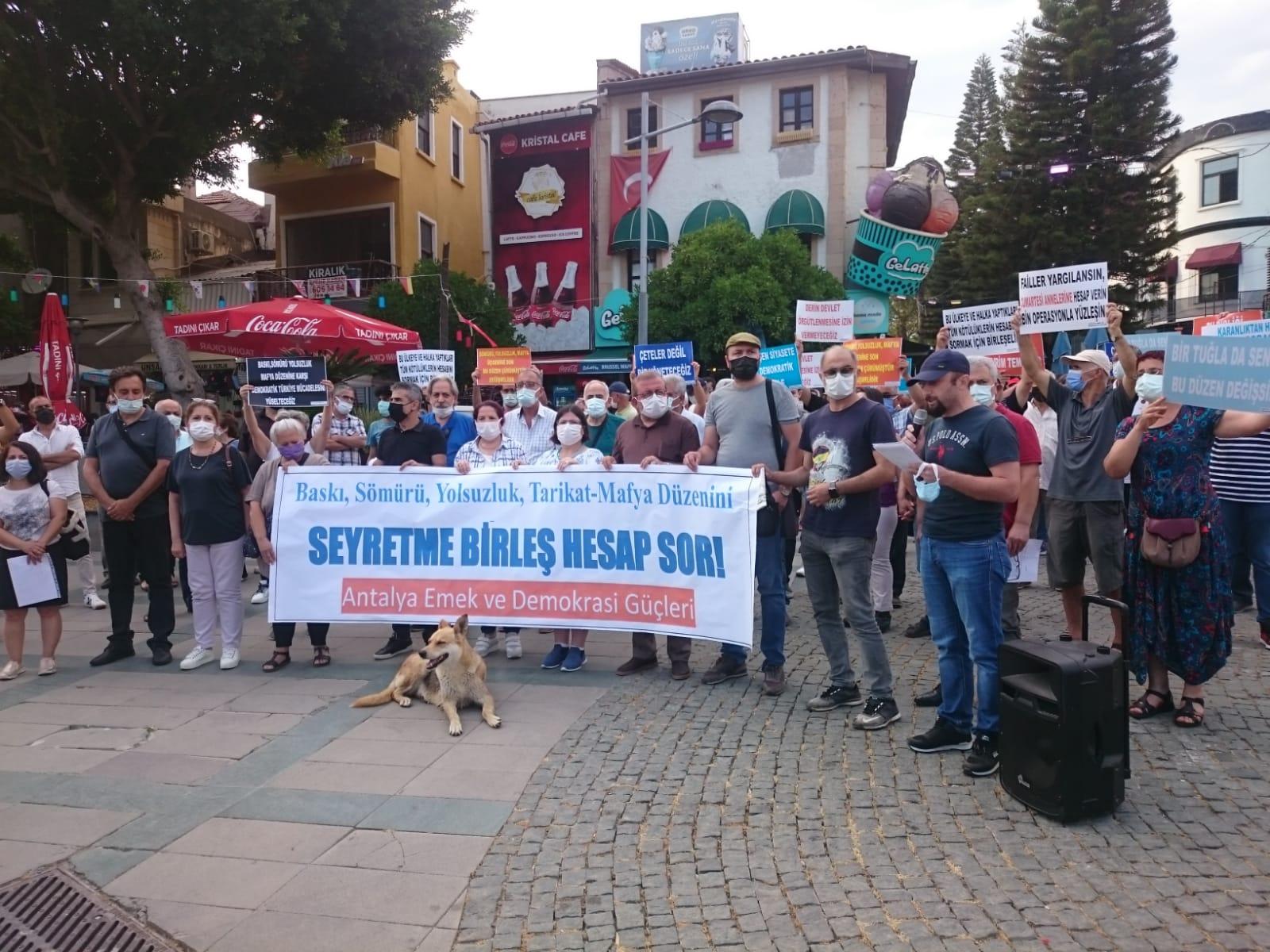 Antalya Emek ve Demokrasi Güçleri: Mafya Düzeninin Tuğlasını Emekçiler Çekecek