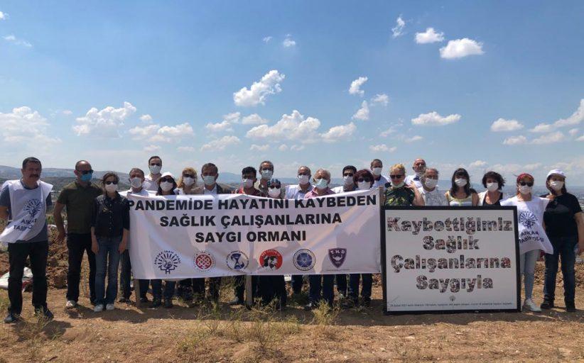 Sağlık Emek ve Meslek Örgütlerinden Pandemi Nedeniyle Hayatını Kaybeden Sağlık Emekçileri Anısına Hatıra Ormanı