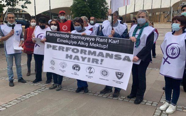 Ankara Şubemiz, Ankara Tabip Odası, Ankara Dişhekimleri Odası, Dev Sağlık-İş, Tüm Radyoloji Teknisyen ve Teknikerleri Derneği ve Türk Hemşireler Derneği: İş Yükümüz Artıyor, Maaşlarımız Eriyor