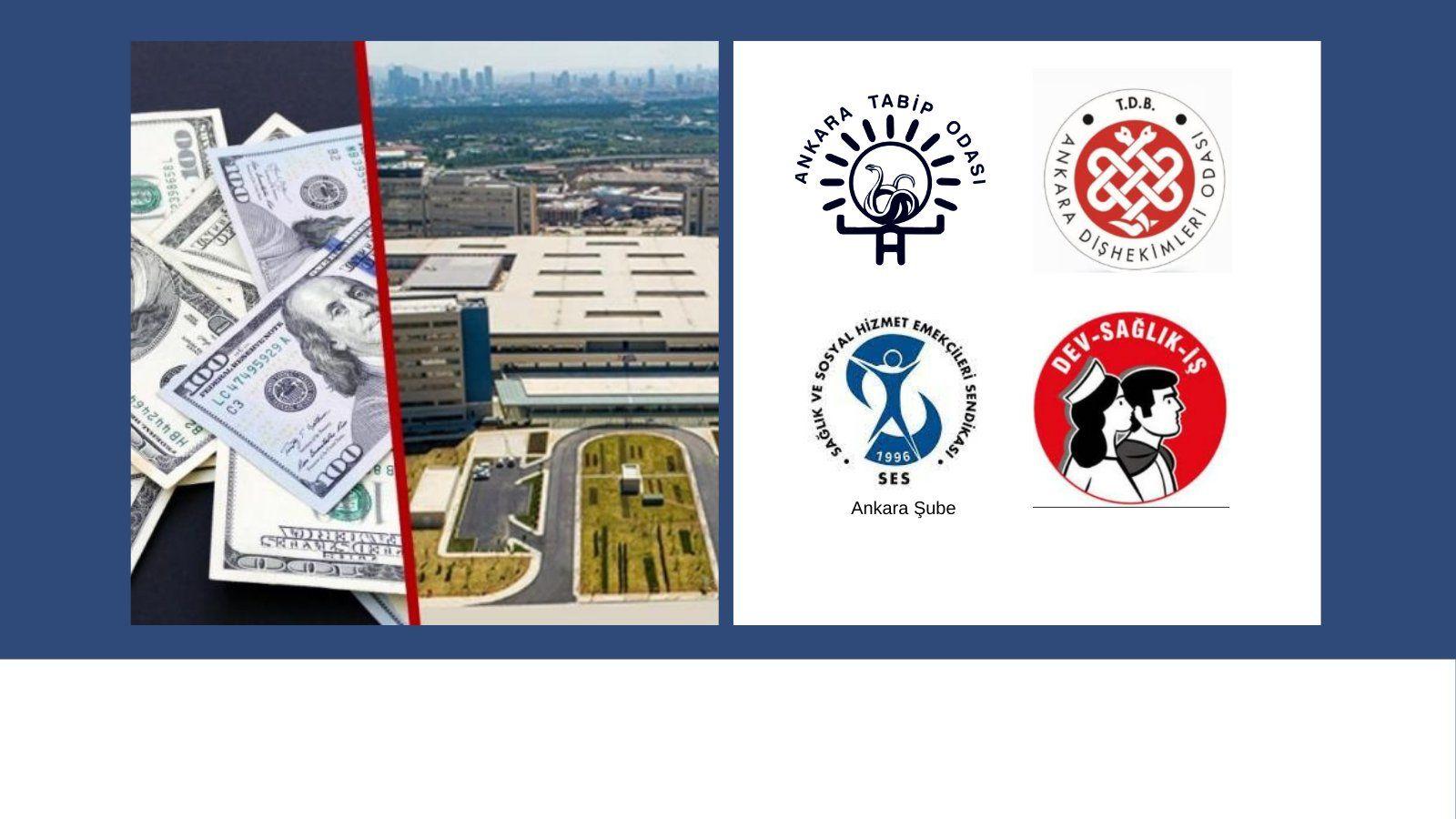 Ankara Şubemiz, Ankara Tabip Odası Ankara Dişhekimleri Odası ve Devrimci Sağlık İşçileri Sendikası: Rönesans İşletme Hizmetleri Şirketinin İşletme Hakkını Danimarkalı ISS Şirketine Satış İşlemi Üzerinden Şehir Hastaneleri Gerçeği