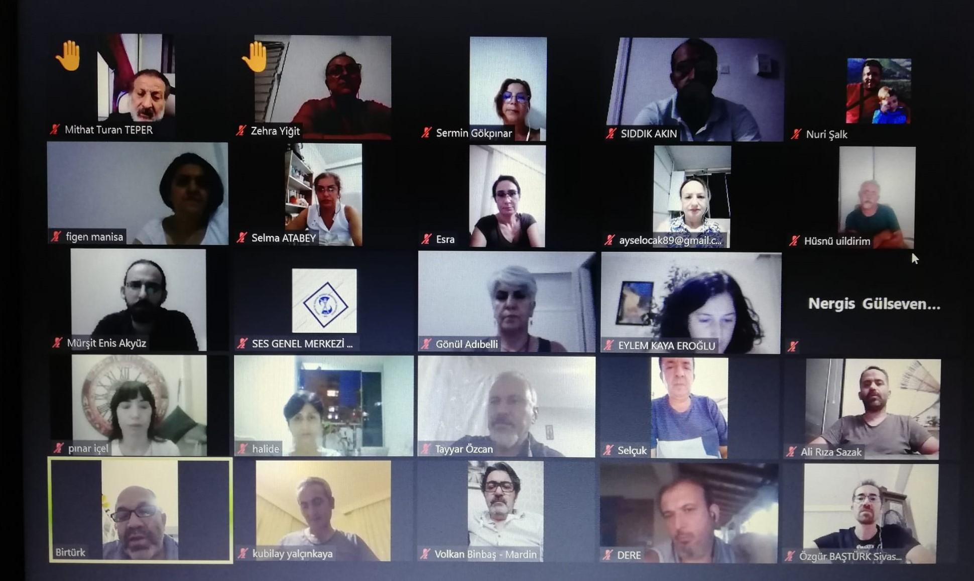 Aile Hekimliği Ödeme ve Sözleşme Yönetmeliği'ne Karşı ASM-TSM Emekçileri ve Şube/Temsilcilik Yöneticilerimizle Çevrimiçi Toplantıda Bir Araya Geldik