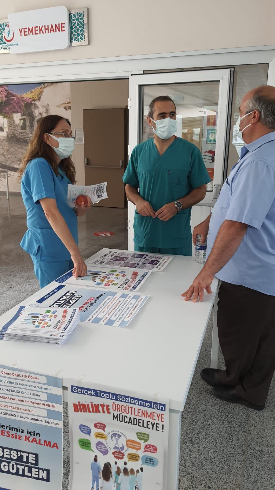 İzmir Şubemiz Türkan Özilhan Devlet Hastanesi'nde TİS Çalışması Gerçekleştirdi
