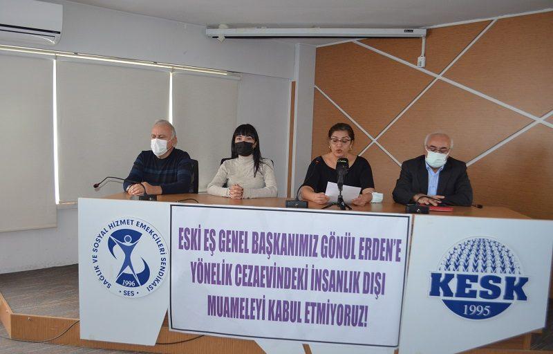 Eski Eş Genel Başkanımız Gönül Erden'e Yönelik Cezaevindeki İnsanlık Dışı Muameleyi Kabul Etmiyoruz!